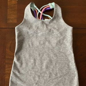 IVIVVA gray tank top with strappy back